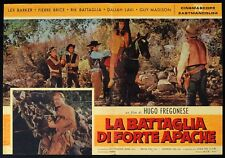 LA BATTAGLIA DI FORTE APACHE Old Shatterhand KARL MAY WINNETOU FOTOBUSTA 5 RARA!
