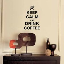 Keep calm and drink coffee - Wall art vinyl decal sticker quote decoration