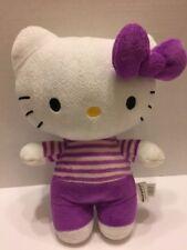 "Fiesta Hello Kitty Plush Stuffed Toy Purple White 13"" 2012"