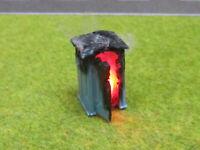 Baustellen Toilette Chemie Klo Brennend 12V LED H0 1:87 Feuer Feuerwehr #9