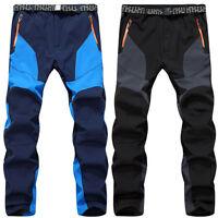 Men Warm Hiking Ski Pants Fleece Padded Outdoor Windproof Waterproof Trousers UK