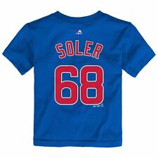 MLB Majestic Faux Stitch Name & Number T-shirt Collection Toddler Sz (2t-4t) Chicago Cubs Jorge Soler Blue 3t