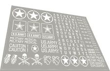US.Army1/10 drift rc car stikers decals white - 2 PCS !
