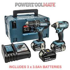 Makita DLX2131JX1 18v Li-ion LXT Combi and Impact Twin - 3 x 3.0ah Batteries