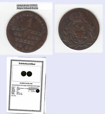 stampsdealer Posen Brand.-Pr. 1 Groschen 1816 A mit Echtheitszertifikat