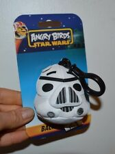 """Angry Birds Star Wars Backpack Clip Storm Trooper 3"""" Plush Clip Keychain"""