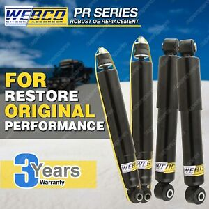 Front + Rear Webco ProE Shock Absorbers for FORD ECONOVAN 1400 1800 2000 2200