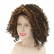 Ladies Brown Scary Spice Girl Wig 90'S Mel B Wannabe Celeb Fancy Dress Accessory