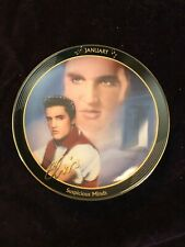 Elvis Presley Bradford Exchange Plate Wood Calendar Holder With 12 Months