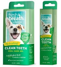 TropiClean Fresh Breath Dog Oral Care Gel Remove Tooth Plaque & Attack Tartar