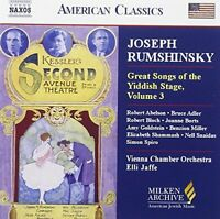 Great Songs of the Yiddish stage, Vol 3 [CD]
