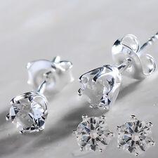 925 Orecchini a perno argento Sterling chiaro Xirius 5 mm cristalli di Swarovski ®
