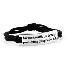 Creative new bracelet personalized custom inspirational leather braided bracelet