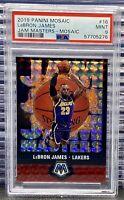 💎2019 Mosaic Basketball Lebron James Jam Masters Silver Prizm #16 PSA 9 MINT🐐