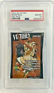 2003-04 Upper Deck Victory Basketball Foil Pack PSA 10 Lebron James RC Year