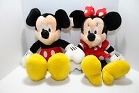 """Mickey & Minnie Mouse Plush 15"""" stuffed animals.Tags included.Disney Store"""