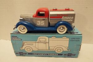 1937 Chevrolet Tanker Truck Coin Bank Liberty Classics Die Cast Collectible NIB