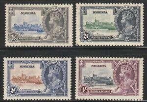 Nigeria   1935   Sc # 34-37   Silver Jubilee   MLH   OG   (4029-4)