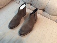Alfani Jayce Leather Chelsea Boots For Men (Brown) Size 13