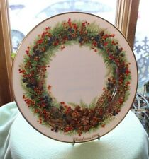 Lenox 1986 Colonial Christmas Wreath Plate - New Hampshire - with Original Box!