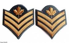 Pair Obsolete Garrison Work  Dress Sergeant Rank Insignia