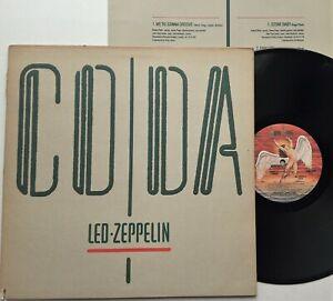 Led Zeppelin - Coda LP 1982 US Press Swan Song 90051-1 Embossed G/Fold Inner EX