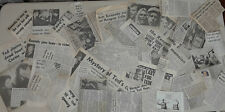 Edward Ted Kennedy VINTAGE NEWSPAPER CLIPPINGS 1980 campaign over 40 articles d