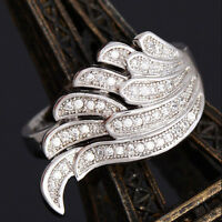 1*Vivid Wing Shape 1pc 925 sterling silver Nice cubic zirconia Ring Size 6-10