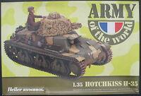 HELLER 81132 - HOTCHKISS H-35 - 1:35 - Panzer Modellbausatz Tank Model Kit