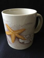 Vintage Otagiri Coffee Mug Seashells Starfish Sand Dollar Beach