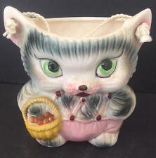VINTAGE RETRO 60'S KITTEN CAT COOKIE LOLLY JAR MADE IN JAPAN in EXC