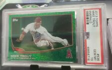 2013 TOPPS MIKE TROUT EMERALD AL DEFENSIVE POY #536 PSA 10 ANGELS
