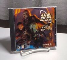 Star Wars Galaxies An Empire Divided - Beta2 - PC Game - RARE - CDs Play-tested