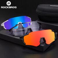 RockBros Photochromatic Polarized Lens Cycling Glasses Eyewear Sunglasses