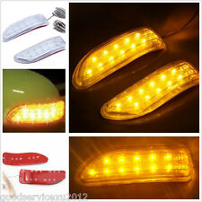 One Pair 12V Knife Style 13LED Auto Rearview Mirror Turning Lights Yellow For A4