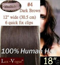 1 Pc Remy Quick Fix Clip In Human Hair Extensions #4