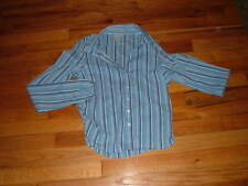 XS Old Navy Collection stretch shirt Blue white stripescollar button-down front