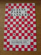 24/08/1968 Queens Park Rangers v Manchester City  (Folded)