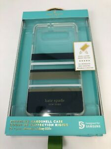 Kate Spade Samsung Galaxy S10+ plus Protective Hardshell Case - Charlotte Stripe
