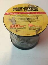 New listing Monster Car Audio Subwoofer Speaker Cable 18ft Up To 1600 Watt Power Handling
