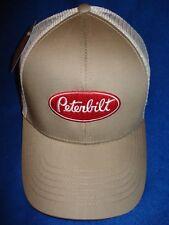 PETERBILT HAT  Khaki Mesh Back Cap  FREE SHIPPING   c14514d28c1b