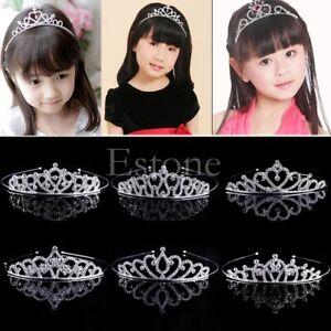 Wedding Bridal Princess Crystal Rhinestone Prom Hair Tiara Crown Headband UK