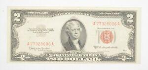 1953-C $2 United States Note | UNC | Legal Tender Red Seal Crisp & Original *298
