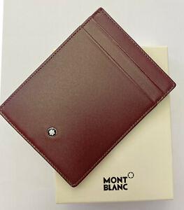 MONTBLANC Meisterstück Pocket 4 cc with ID Card Holder Burgundy