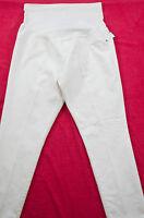 women's Liz Lange maternity size L (12-14) white ankle skinny elastic belly pane