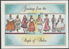 Belize (1768) - 1986  COSTUMES IMPERF m/sheet unmounted mint