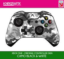 KNR6622 PREMIUM XBOX ONE CONTROLLER SKIN CAMO BLACK AND WHITE