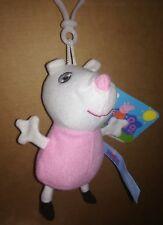 Peluche Susy Pecora Portachiavi 15 cm, serie Peppa Pig, originale con etichette