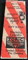 Matchbook Cover Marietta Laundry Zoric