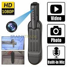 1080P HD Pocket Pen Camera Hidden Spy Mini Portable Body Video Recorder DVR Rec